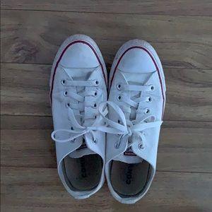 Women's white converse!!
